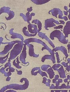 Carnavalet in royal purple & silvery gold In Purple: http://staging.fortuny.com/Fabrics.aspx#13c73519-af83-43b3-a4b9-effe2fb3a12a #fortuny  Follow Fortuny on Pinterest! pinterest.com/fortuny