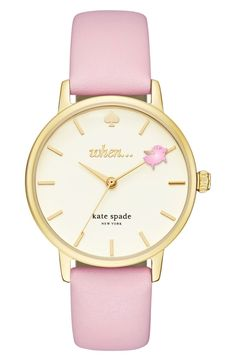 The darling-yet-empowering theme of this pastel-accented Kate Spade watch is a gift-worthy reminder that anything is possible...when pigs fly. But still!