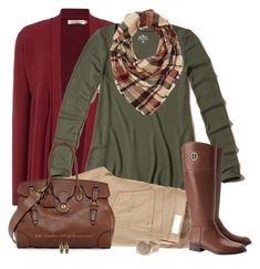 Brown, Green & Maroon by amber-1991 on Polyvore featuring Hollister Co., Brakeburn, AG Adriano Goldschmied, Tory Burch, Ralph Lauren, Panacea and Charlotte Russe