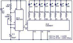 Dancing light circuit diagram