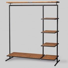 Wohnung Industrial clothing rack by Noodles Noodles & Noodles Berlin Steel Furniture, Ladder Bookcase, New Room, Store Design, Industrial Style, Shelving, Bedroom Decor, House Design, Wood