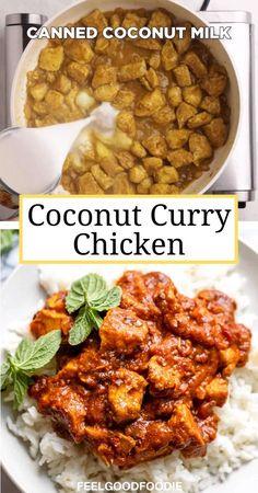 Quick Dinner Recipes, Easy Healthy Recipes, Vegetarian Recipes, Cooking Recipes, Instapot Recipes Chicken, Coconut Curry Chicken, Coconut Chicken Recipes, Healthy Chicken Curry, Foodblogger
