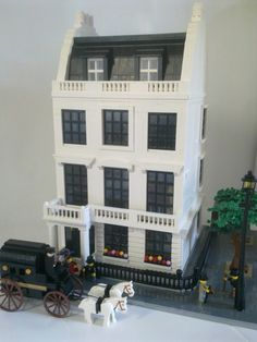 Modular Georgian London Townhouse c1905: A LEGO® creation by Andrew T : MOCpages.com