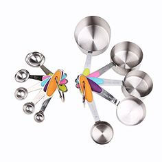 Holeco Stainless Steel Measuring Spoons Set of 10 Perfect for Baking