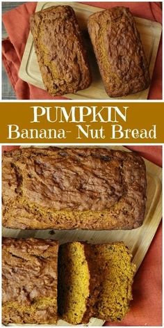 Quick and Easy banana bread recipe 3 ingredients made just for you! Quick and Easy banana bread recipe 3 ingredients made just for you! Quick And Easy Banana Bread Recipe, Paleo Banana Bread, Banana Bread Recipes, Pumpkin Recipes, Fall Recipes, Pumpkin Nut Bread, Apple Bread, Nut Bread Recipe, Dessert Bread