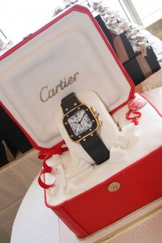 Cartier Watch Groom's Cake By Amelie51