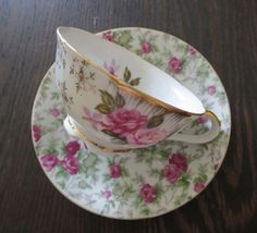 Vintage Mismatched Tea Cup and SaucerChinaMade in by MiladyLinden