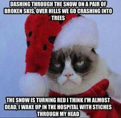 Grumpy Cat Christmas Memes Jingle Bells