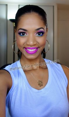 The Fancy Face: MAKEUP LOOK | Electric Neon Brights w/ the NEW Urban Decay Electric Palette