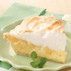 Pineapple Cream Pie; a link to a version that is just like my Mama's and it is scrumptious.  http://www.razzledazzlerecipes.com/pie-recipes/pineapple-cream-pie.htm