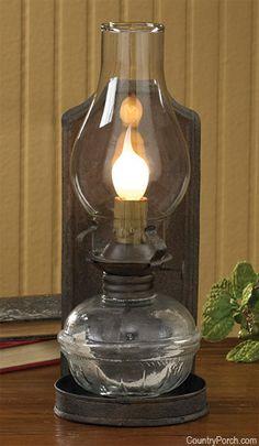 Pressed Back Oil Lamp
