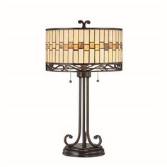 Check out the Lite Source C41154 Omora 2 Light Table Lamp in Dark Bronze with Tiffany Shade priced at $294.00 at Homeclick.com.