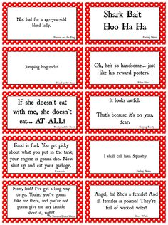 Disney Movie Quotes game with Free Printables! - A girl and a glue gun