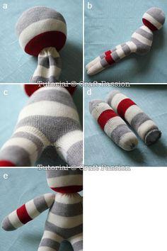 stuff and sew sock lion