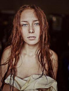 Creative Photography by Marta Syrko..freckled female