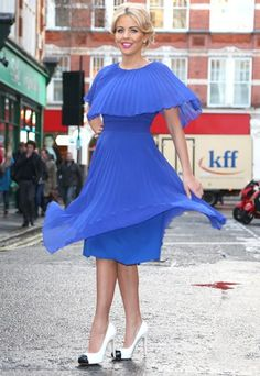 Lydia Bright is bang on trend in this 50s cobalt blue dress from her SS13 collection. Jealous much?