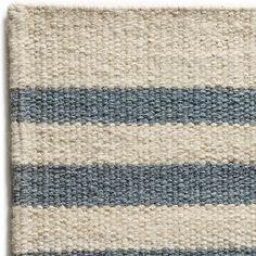 Cape Elizabeth Wool Berber Striped Rug Maine Cottage