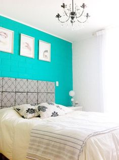 one wall painted, bright color