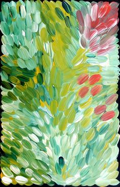 aboriginal art painting | bush medicine by gloria petyarre