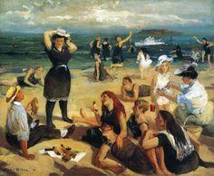 """John French Sloan  ~ """"South Beach Bathers"""", 1907"""