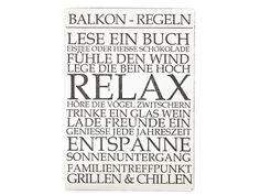 WANDTAFEL BALKON REGELN Shabby Vintage Holzschild von Interluxe via dawanda.com
