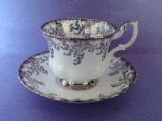 A personal favorite from my Etsy shop https://www.etsy.com/ca/listing/598959314/royal-albert-silver-filigree-wedding