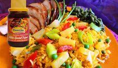 Surinaams eten – Caribbean Rice Jerk Chicken (gekruide ananas rijst met Caribbische kip)