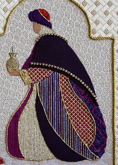 Beas Stitcheries: The Magi .... completed - nice blog with cross stitch, needlepoint, and hardanger