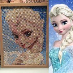 Queen Elsa - Frozen nabbi beads/Photopearls by  helenwarlander