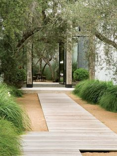 37 Beautiful Garden Pictures For You Beauty and Affordable Wooden Garden Path Ideas _gardening _ Wooden Pathway, Wooden Walkways, Wooden Garden, Brick Garden, Contemporary Garden Design, Contemporary Landscape, Asian Landscape, Modern Landscape Design, Garden Stones