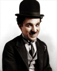 Spectacular Colorized B Photos of Historical Icons - My Modern Metropolis  Charlie Chaplin--amazing!