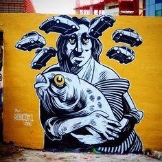 #streetart en Poblenou Barcelona  Foto:#estorninos1 #streetartoficial ##fans_del_arte_urbano  Foto:#estorninos1 #streetartoficial #streetartphotography #graffitiart #art #graffiti #stencil #urbanart #streetartbcn #streetart_london #barcelonagraffiti #streetarteverywhere #spraypaint #murslliures #street_art_hunter #rsa_graffiti #dbs_graf #tv_streetart #arteurbano #artalcarrer #arteenlascalles #arteurbanobarcelona #urbangraffitisbcn #street2lab #fans_del_arte_urbanostreetartphotography…