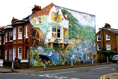 Wall Mural in Brixton, South London http://suitcasemag.com/2014/04/29/city-guide-brixton-south-london/