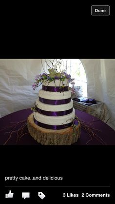 Our summer wedding cake made by cyndi riggle