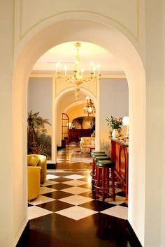 deco design at the hotel splendido, portofino