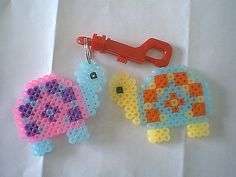 Perler bead Turtles by Artzyfartzy