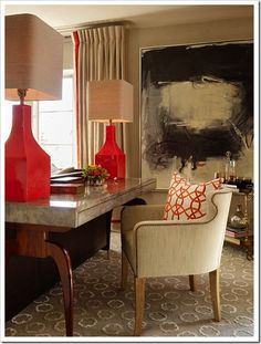 Those lamps!  That table... ugh.. .love it all