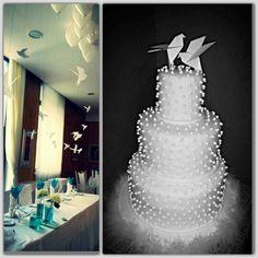 Origami bird wedding cake..