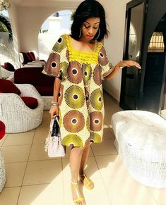 Stand Out With Ankara and Jeans This Weekend - Sisi Couture Short African Dresses, Latest African Fashion Dresses, African Print Dresses, African Print Fashion, Africa Fashion, Women's Fashion Dresses, African Prints, Ankara Fashion, Fashion 2017