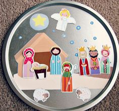 Freshly Completed: Homemade Gifts: Magnetic Nativity Scene