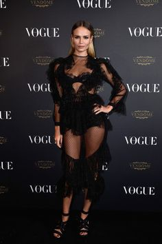 Natasha Poly attends the Vogue 95th Anniversary Party on October 3, 2015 in Paris, France.