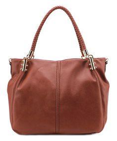 Love this Cognac Brown Jess Shoulder Bag by MKF Collection on #zulily! #zulilyfinds