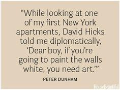art against white walls