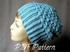 PATTERN:  Tia Hat, easy crochet PDF, slouch beanie, adult, teen, fall winter slouchy autumn fashion, InStAnT DoWnLoAd, Permission to Sell