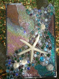 "Stained Glass Tropical Sea Beach Starfish Suncatcher Panel Tiffany St 18""x 11""   eBay"