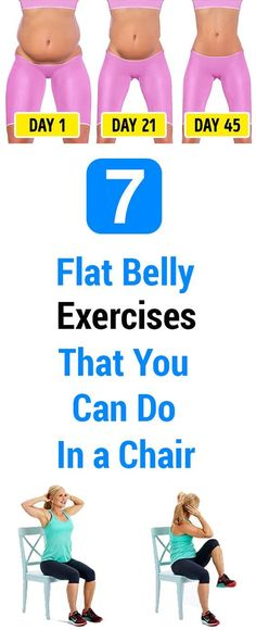 Lose 1 Pound Doing This 2 Minute Ritual - 7 Flat Belly Exercises That You Can Do In a Chair Lose 1 Pound Doing This 2 Minute Ritual - Belly Fat Burner Workout Belly Fat Burner Workout, Flat Belly Workout, Belly Exercises, Chair Exercises, Keep Fit, Loose Weight, Reduce Weight, Get In Shape, Lose Belly Fat