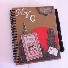 Diário de viagem para NYC! #diario #diariodeviagem #scrapbooking