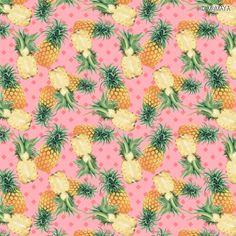 "fabric pattern | Motiv: ""pineapple passion bubblegum"" (#75492) © MyMAYA  | Design and print your own fabric on www.stoffn.de"
