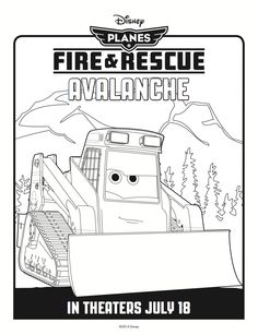 Avalanche Coloring Page