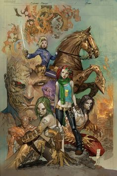 Cyberforce #1 By Marc Silvestri #Comics #Illustration #Drawing